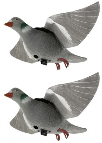 2 X Tyvec Pigeon Hyper-Flap Decoy For Decoying Rotary Magnet Bouncer Floater
